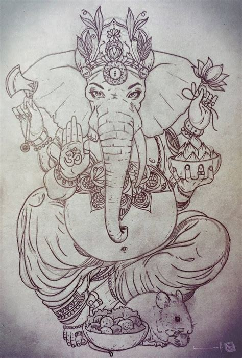 ganesh tattoo colorato for more visit facebook com thelazlodasilva tattoo