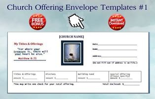 church offering envelopes templates fundraiser order form template free