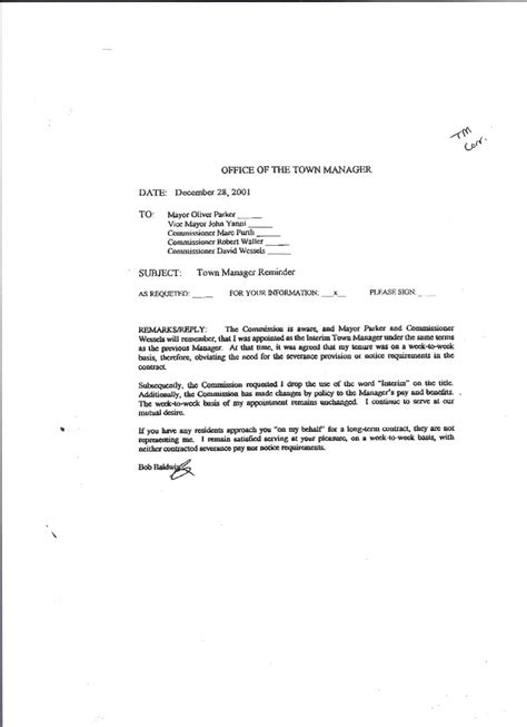 Employment Letter Contract Basis Commissioner Dodd 171 Barbara Cole By The Sea
