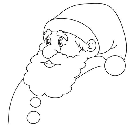 printable santa head 60 best santa templates shapes crafts colouring pages