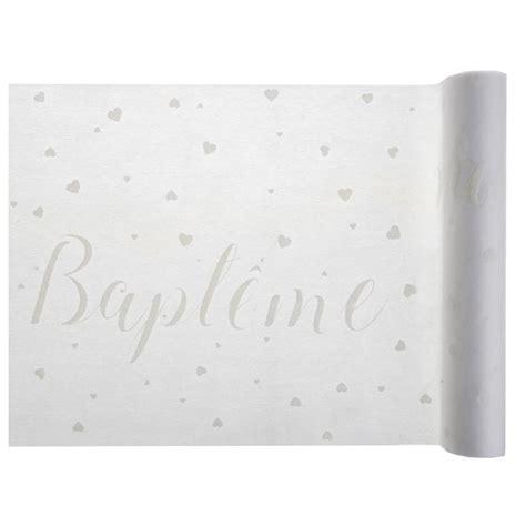 Chemin De Table Blanc Et Gris by Chemin De Table Bapt 234 Me Blanc Et Gris Argent X 5 M 232 Tres