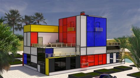 Kitchen Paint Idea by Villa Inspired By Mondrian S Painting
