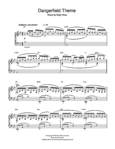 theme music hetty wainthropp investigates dangerfield theme sheet music by nigel hess piano 32344