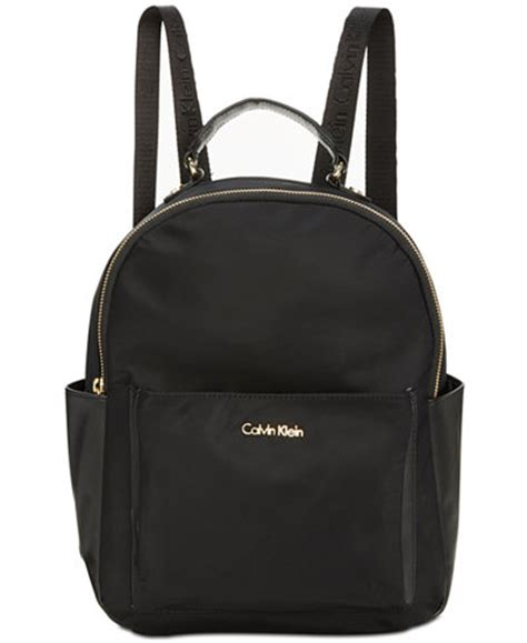 Ck Bag Backpack Black Ck20 calvin klein collaboration small backpack handbags accessories macy s