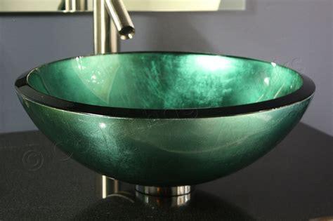 17 inch Modern Teal Metallic Sage Green Hand Painted Glass