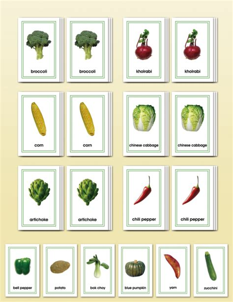 Match Com Gift Card - picture card matching vegetables montessori research development