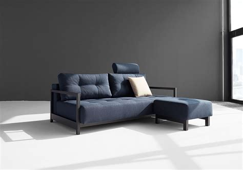 dark blue sofa bifrost sofa bed with excess lounger