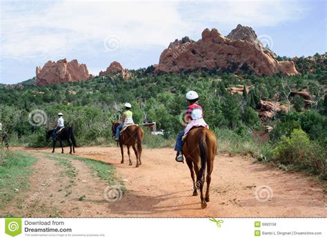 Garden Of The Gods On Horseback Horseback In The Garden Of The Gods Royalty Free