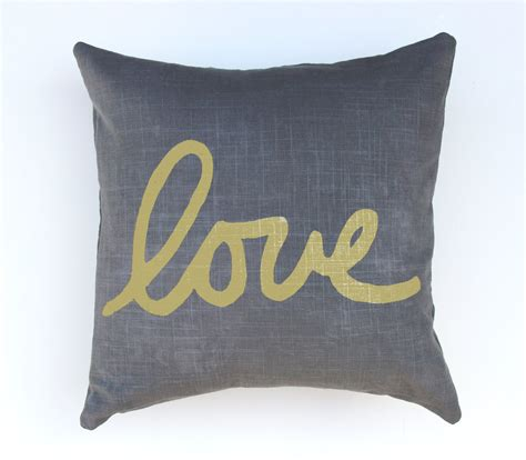 Gray And Gold Throw Pillows Gray And Gold Throw Pillow Lettered Pillow