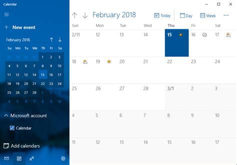 calendar windows