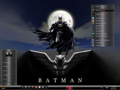 themes for windows 7 taskbar w7 batman mini theme by keybrdcowboy on deviantart