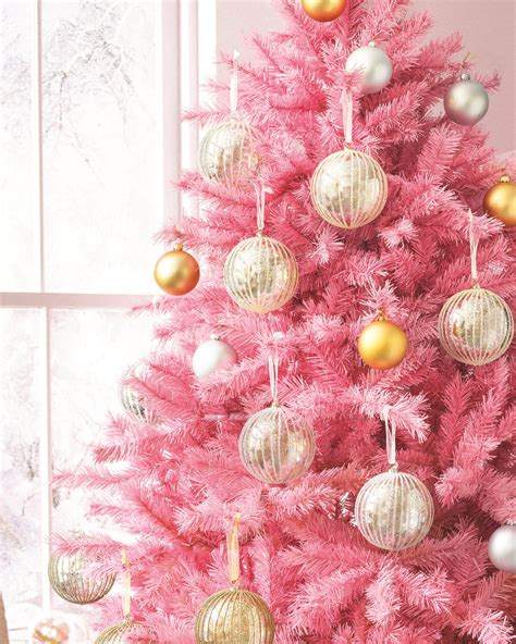 pretty in pink christmas tree treetopia uk