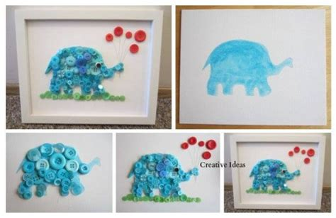 diy room decor tutorials how to make diy button elephant wall decoration how