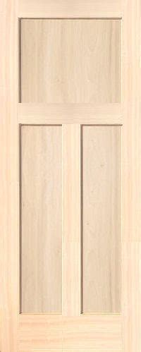 Poplar Interior Doors Poplar Mission 3 Panel Wood Interior Doors Homestead Doors
