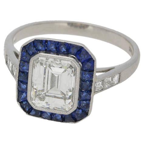 emerald cut 2 03 carat deco style engagement