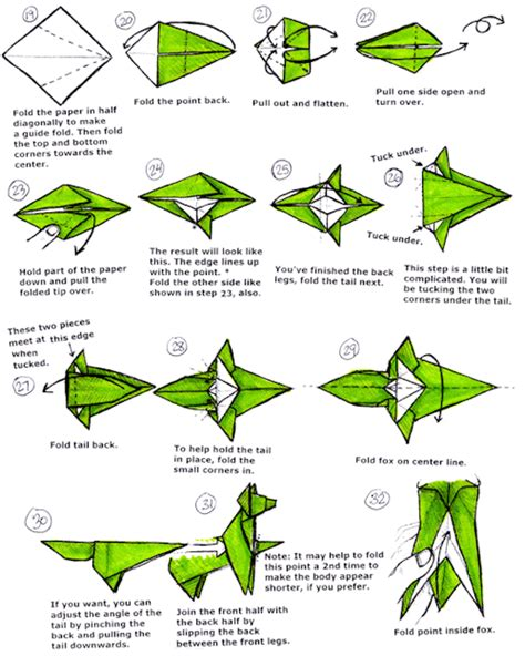 origami fox diagram wiring diagram