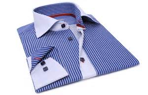 blue striped shirt financial white collar and cuffs