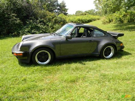 slate grey porsche slate grey metallic 1989 porsche 911 turbo
