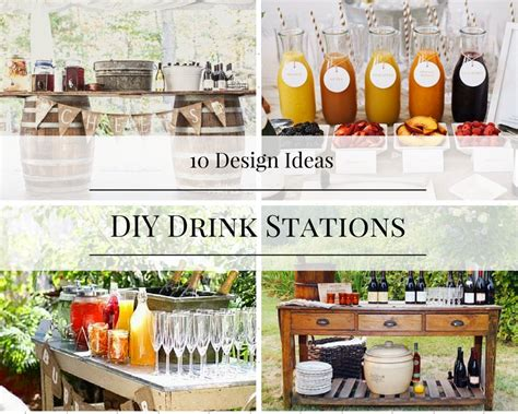 10 diy drink station ideas how to simplify