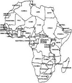 Map Of Africa Black And White  Garutwebcom sketch template