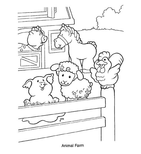 farm farm animals coloring pages