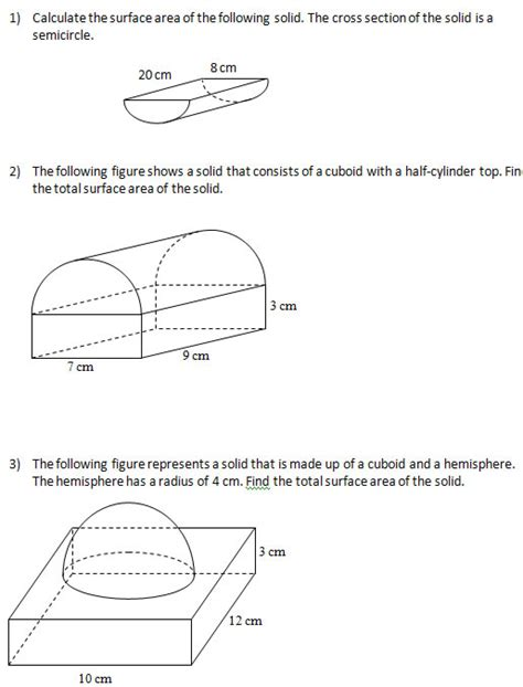 printable math worksheets surface area geometry surface area and volume worksheets worksheets