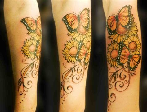 butterfly and sunflower tattoo designs sunflower butterfly design of tattoosdesign of