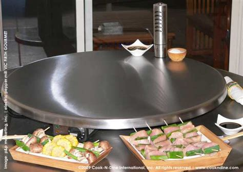 electric grill indoor outdoor teppanyaki portable