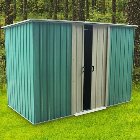 heavy duty metal garden storage shed  apex roof