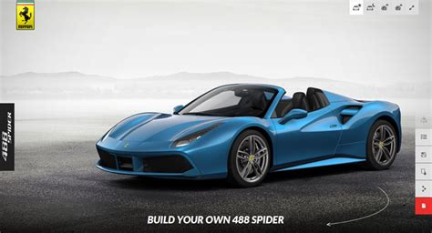 Ferrari Configurator by Build Your Own Ferrari 488 Spider Online The News Wheel