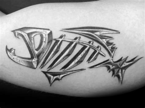 fish skeleton tattoo 50 fish skeleton designs for x ink ideas