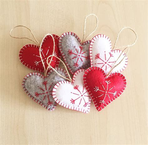 Etsy Handmade Ornaments - ornaments set 6 handmade felt ornaments handmade