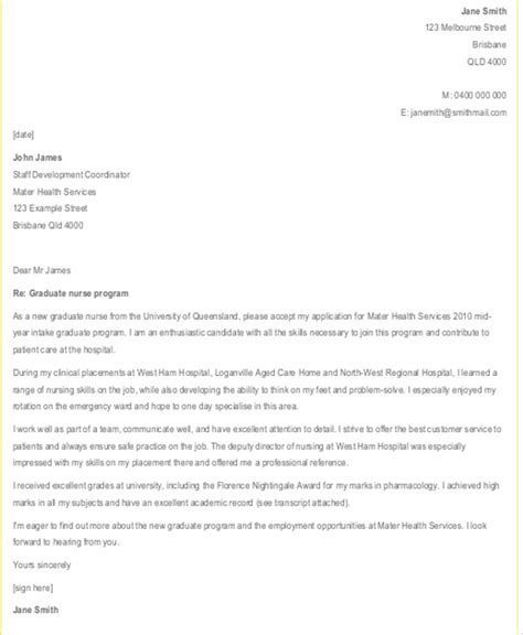 nature cover letter exle nursing graduate cover letter exle 35 images nursing