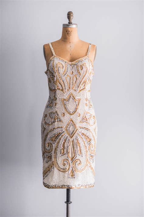 vintage beaded dresses vintage gold beaded bridesmaid dress onewed