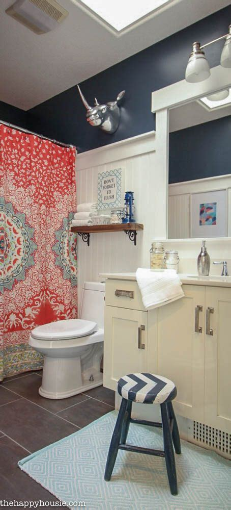 Navy Blue And Coral Bathroom by Best 25 Coral Bathroom Decor Ideas On