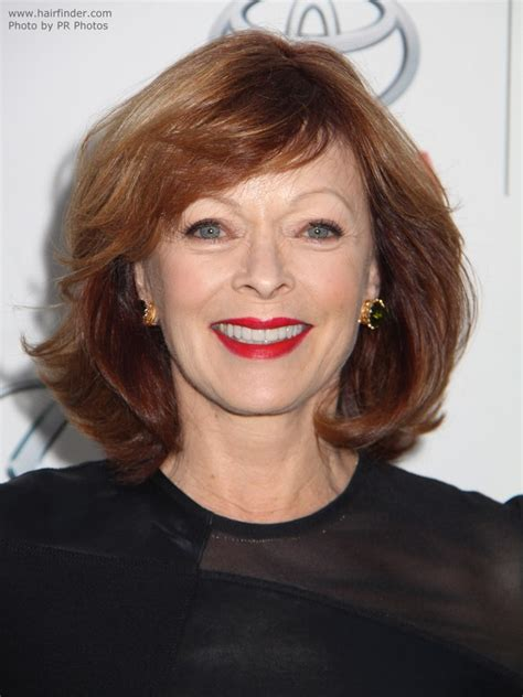 what hairstyle for dry older hair frances fisher s voluminous bob