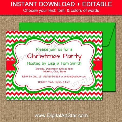christmas invitation templates free editable editable invitation template by digitalartstar