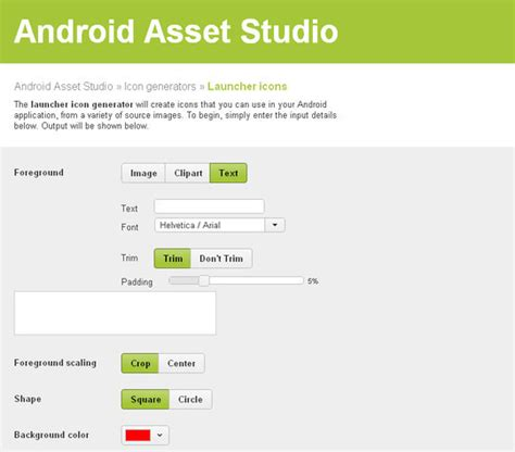 android asset studio android asset studio a useful icon generator for your android apps