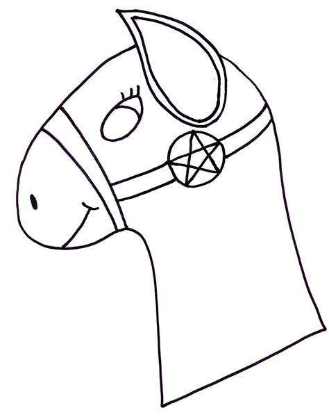 horse craft template clipart best