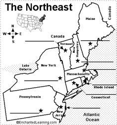 blank map of the northeast region of the united states northeast states and capitals quiz label northeastern us