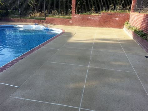 pool patio paint painting concrete deck cretecoat after the cement is in shape only 10 months any