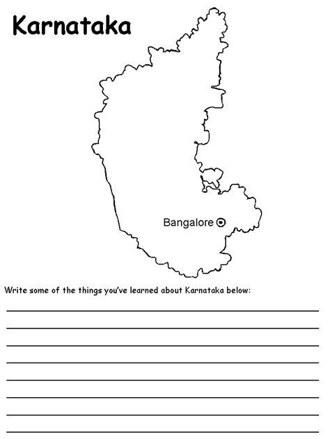 Karnataka Outline Map by India S States Maps Karnataka