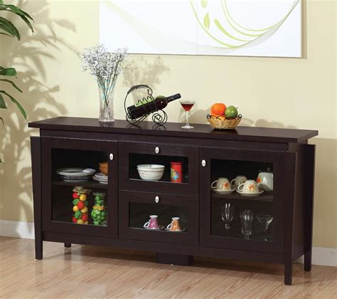 Sideboards: astonishing dining room buffet with glass doors Dining Room Buffet Server, Dining