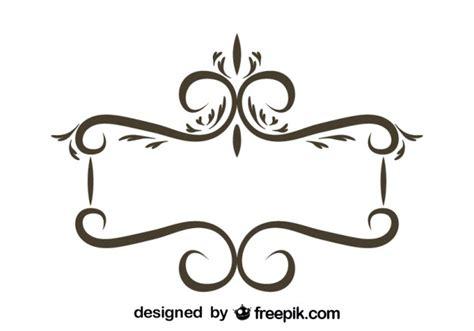 marcos vintage en blanco y negro descargar vectores gratis marco floral retro de dise 241 o estilizado descargar