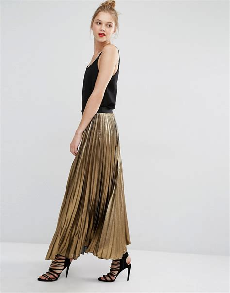 bcbg maxazria bcbg max azria dallin maxi skirt in gold