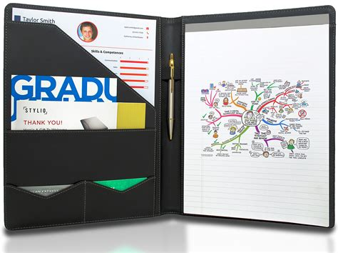 save 50 stylio padfolio resume portfolio folder document organizer