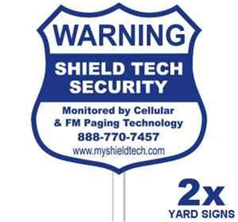 2 yard signs poles stakes decals warning for home