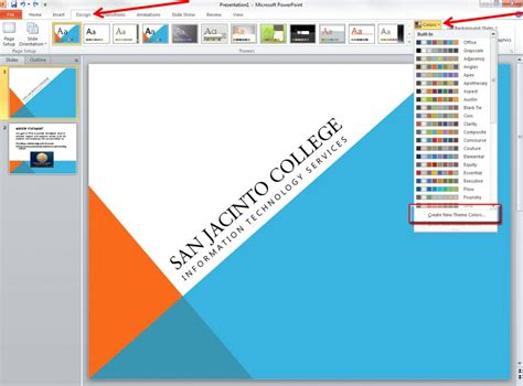 applying and modifying themes in powerpoint 2010