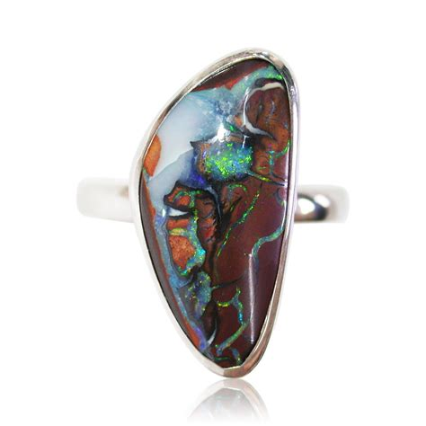 matrix opal ring koroit matrix opal sterling silver ring sunriseopals