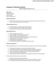 it technician resume description sales technician